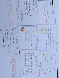 All the cards we wrote out